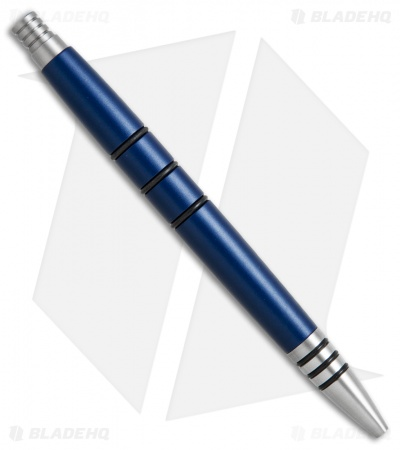 Tuff-Writer Mini Click Series Blue Aluminum Retractable Pen