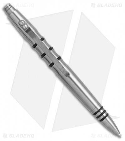 Tuff-Writer Precision Press Series Brushed Titanium Retractable Pen