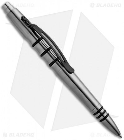 Tuff-Writer Precision Press Series Polished Titanium Retractable Pen