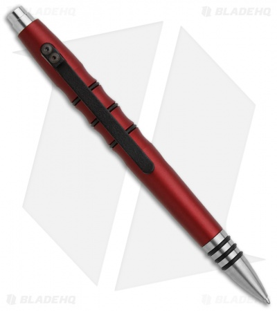 Tuff-Writer Precision Press Series Radiant Red Aluminum Retractable Tactical Pen