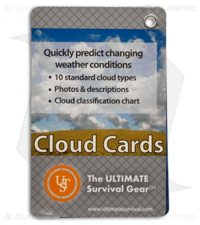 UST Ultimate Survival Cloud Identification Cards Weather Guide