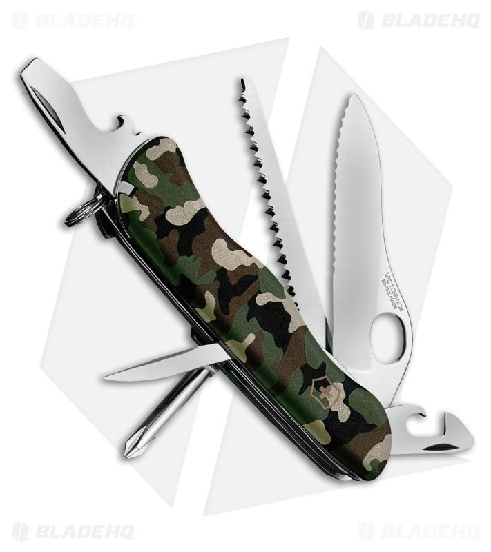 Victorinox One Hand Trekker Ns Camo 54878 Blade Hq