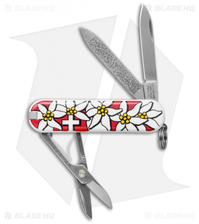 Victorinox Classic Swiss Army Knife Red Edelweiss 54719