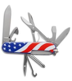 Victorinox Super Tinker Multi Tool U S Flag 53342 Blade Hq
