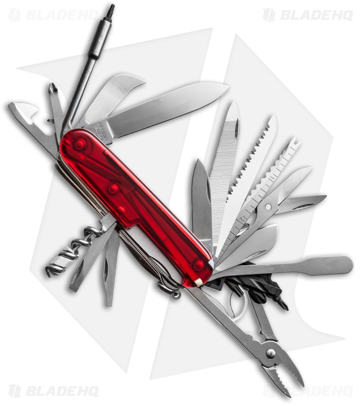Victorinox Swiss Army Swiss Champ Xlt Ruby 53504 Blade Hq