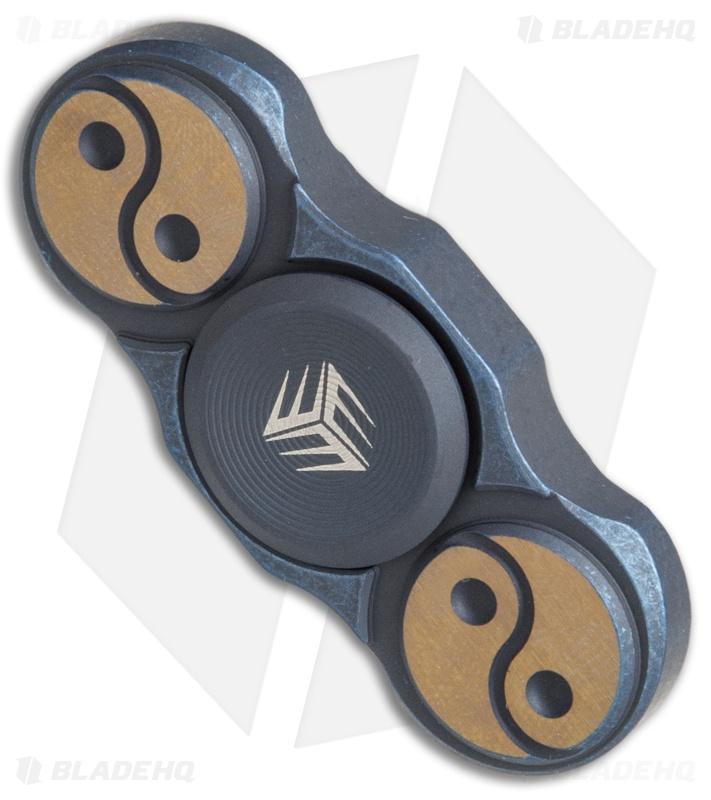 WE Knife Co. S01A Titanium Fidget Spinner (Blue) - Blade HQ