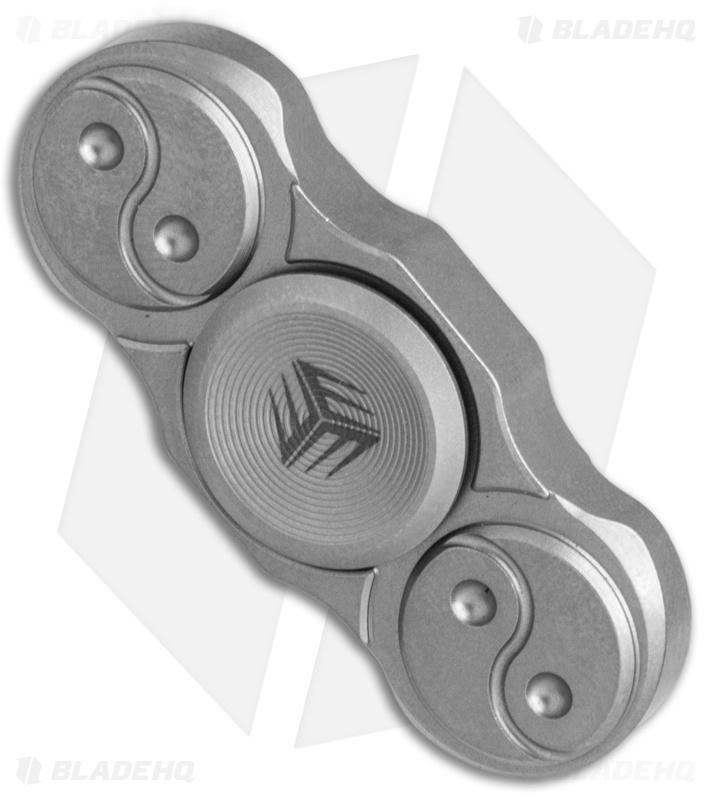 WE Knife Co. S01C Titanium Fidget Spinner (Gray) - Blade HQ