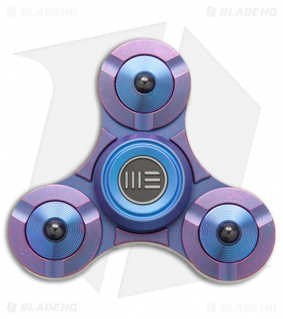 WE Knife Co. S02A Titanium Fidget Tri Spinner (Purple)