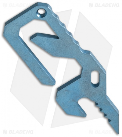Carey Custom Blades Titanium Bottle Opener Pocket Tool - Blue