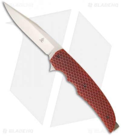 "Jason Clark Custom Clip Point Framelock Flipper Orange C-Tek Knife (3.25"" Satin)"