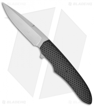 "Jason Clark Custom Drop Point Framelock Flipper Black C-Tek Knife (3.50"" Matte)"