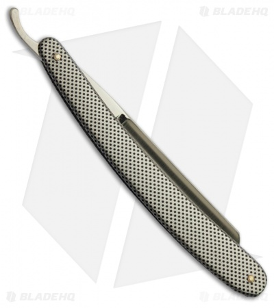"SimbaTEC Razolution Straight Edge Razor Blade Checkered (4"" Plain)"