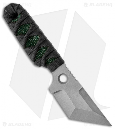 "Sam Eddleman Dashi Gen 1 Tanto Neck Knife Cord Wrap Green Rayskin (2"" Plain)"