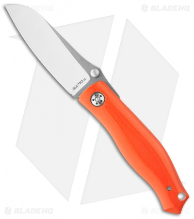 "Alan Folts Custom Standard Utility Folder Orange G-10 Knife (3.375"" Two-Tone)"