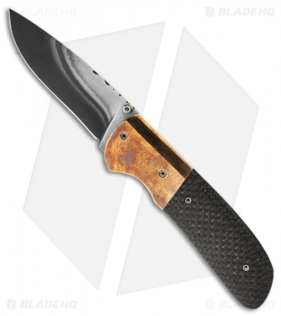 "Burr Oak Knives Drop Point Knife LSCF Bronze (3.25"" San Mai)"