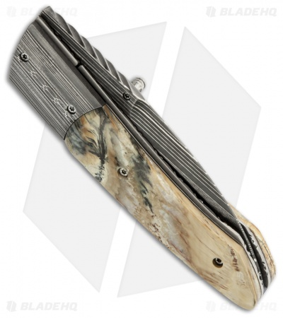 "Corrie Schoeman X Tend Folder Knife Mammoth Molar Tooth (3"" Damascus)"