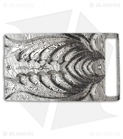 Brian Tighe Custom Rib Cage Damasteel Belt Buckle