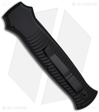 "Piranha Bodyguard Automatic Knife Black Tactical (3.3"" Black)"