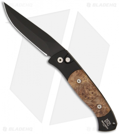 "Protech Small Brend 2 Automatic Knife Maple Burl (2.9"" Black) 1207"