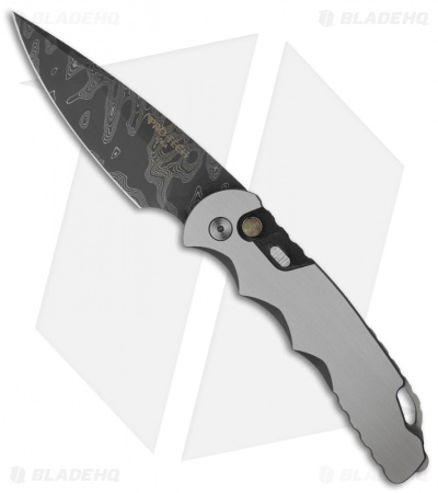 "Protech TR-4 Steel Custom Tactical Response Knife (4"" Nichols Damascus)"