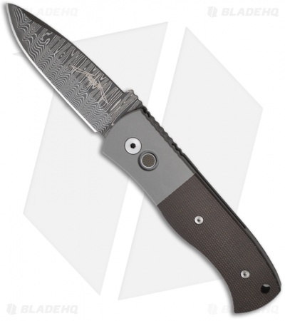 Emerson Protech Steel Custom CQC-7A Automatic Knife w/ Micarta (Damascus)