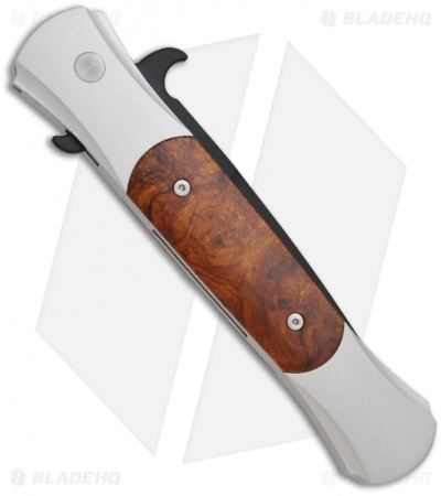 "Protech Large Don Automatic Knife Desert Ironwood (4.5"" Black) 1908-DIW"