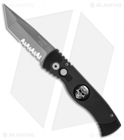 "Protech Tactical Response TR-1.2 Skull Tanto Automatic Knife (3"" Bead Serr)"