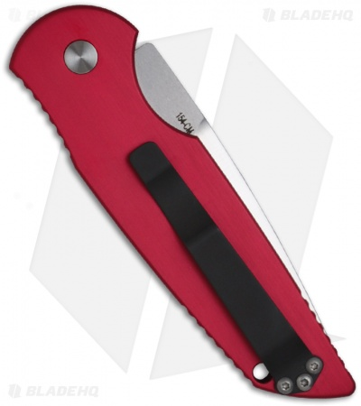 "Protech Tactical Response 3 Dark Red Automatic Knife (3.5"" Satin Plain) TR-3"