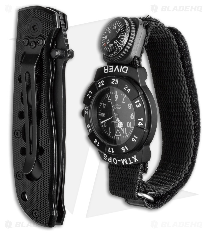 Smith & Wesson Extreme Ops Watch & Knife Combo Set SW-XTMOPS-2