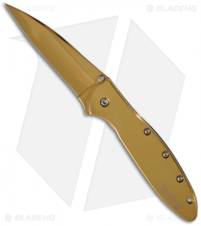 "Kershaw Leek Assisted Opening Knife (3"" Gold) 1660GLD"