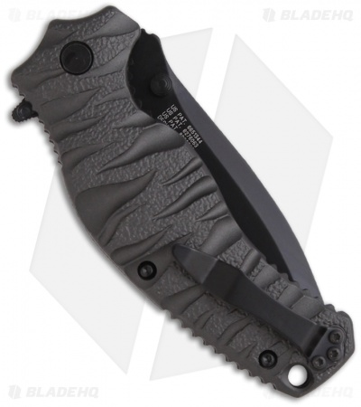 "Smith & Wesson Black Ops SWBLOP4BS Spring Assisted Knife (3.35"" Black Serr)"