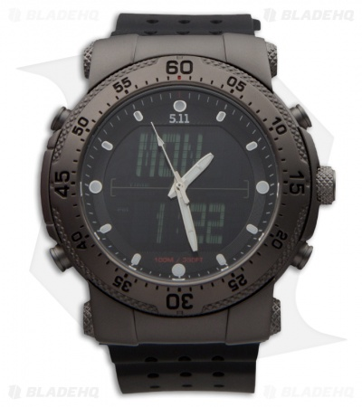5.11 H.R.T. Tactical Series Titanium Sniper Watch Black Strap 59209