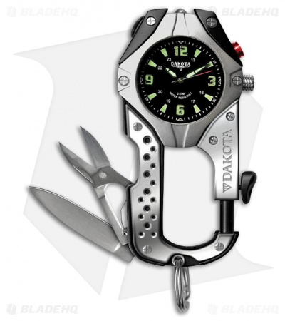 Dakota Knife Clip Watch Black Aluminum DK8761