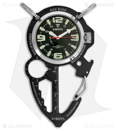 Dakota Multi Tool Clip Watch Black DK3856